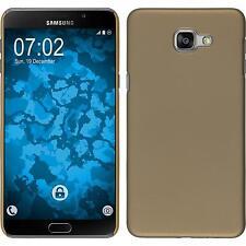 Custodia Rigida Samsung Galaxy A9 - gommata oro + pellicola protettiva