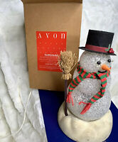 Vintage Collectible Avon Chilly Sam Multicolor Light Up Snowman w Box Works