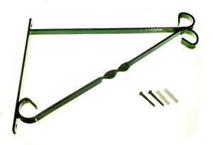 Supporto 35.6cm 350mm da Parete Cesto Verde Plastic Rivestito Acciaio W/ Viti Pz