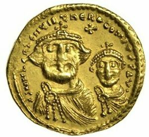 616-625 AD  Heraclius Gold Solidus Roman Byzantine Empire, Sear 742 CGS 50