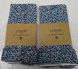 Two Men's J Crew Boxers XL Floral  NWT