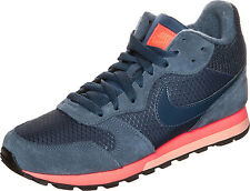 Nike MD Runner Womens UK 7 EU 41 Navy Blue & Orange 807172-448 Sneaker Trainers