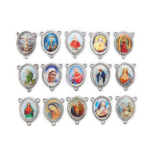 High Quality 2-to-1 Connexctors Catholic Religious Crosses Enamel Charms Medals
