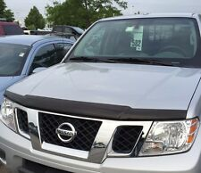 NEW OEM 2005-2017 NISSAN FRONTIER FRONT HOOD PROTECTOR - BUG GUARD - SMOKE COLOR