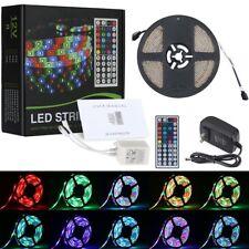 5M LED Strip Light Multicoloured 300 LEDs 16.4ft + IR Remote TV Backlight Indoor
