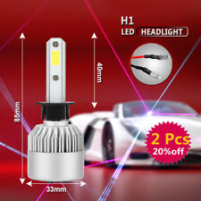 2x H1 588W 58800LM COB Cree LED Headlight Kit 6500K Bulbs High Power Low Beam TH