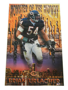 """2001 Starline Brian Urlacher Monster of the Midway Poster #1006 ^ 22.25"""" x 34.5"""""""
