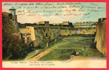 1906 Havana Cuba Postcard The Moat Fort Cabana, First Hand Account of Executions