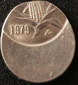 1979 MEXICO 10 Centavos 55% Off-Center ERROR COIN Very Interesting! Nice!