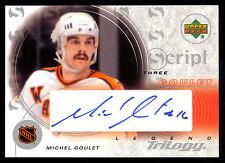 2003 MICHEL GOULET UD TRILOGY SCRIPT SIGNED AUTOGRAPH Card NM QUEBEC NORDIQUES