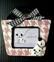Lady Jayne Picture Frame Purse Handbag Shape Dalmation Dog 3-D Easel Ceramic Pet