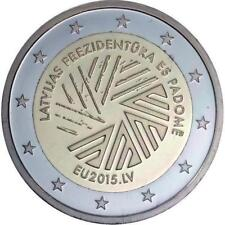 Letonia 2 euros UE Presidencia del Consejo 2015 BFR.