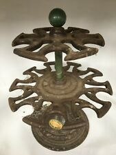 More details for a dusty vtg a reliable cast iron twin tier rotating rubber office stamp carousel
