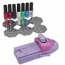 Nail Art DIY Color Printing Machine Polish Stamp Pattern Mold Template Kit Set