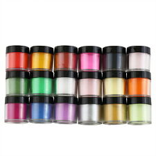 18 Colors Acrylic UV GEL Polish DIY Kit Decorate Manicure Powder Nail Art JN