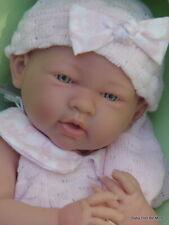 New Berenguer 15 Inch La Newborn 18053 Doll Pink Knit Romper Gift Set & Blanket