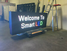 10 YEAR 2'x6 LED Full-Color WIRELESS 10mm programmable message sign OUTDOOR 2x6