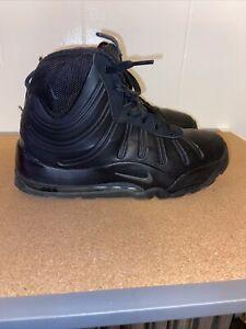 NIKE Air Max ACG Foamposite Bakin Boots Men Size 7y Triple Black