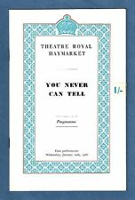 """Ralph Richardson """"YOU NEVER CAN TELL"""" Keith Baxter / Shaw 1966 London Playbill"""