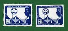 Philippines 2 stamps, SC 637, Girl Scouts, 1957,  MPH