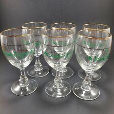 6 Gold Rim Irish Coffee Glasses Whiskey Bar Shamrock Retro 6