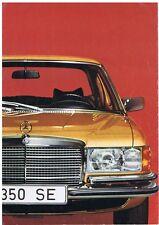 BROCHURE DEPLIANT AUTO MERCEDES BENZ 280 S 280 SE 350 SE