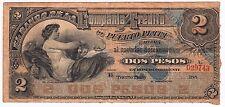 DOMINICAN REP / 2 PESOS ND ( 188? ) PUERTO PLATA BANCO DE LA COMPAÑIA DE CREDITO