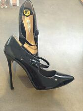 BRAND NEW Black Tony Bianco Patent Stilettos Size 8.5 Genuine Leather