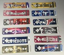 Lot of 12 NFL Teams Nintendo Wii Controller Skins Holographic Faceplates