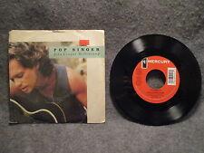 """45 RPM 7"""" Record John Cougar Mellencamp Pop Singer & J.M.'s Question 874 012-7"""