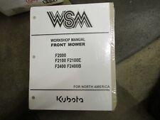 Kubota F2000 F2100 E F2400 B 2000 2100 2400 Front Mower service & repair manual