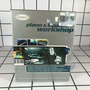 Magix Piano & Keyboard Workshop 1999 - Music Teaching Tutor PC CD-ROM - 95 98