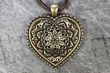 Necklace Heart Mandala Pendant Bronze Love Buddha Tibetan Healing Buddhism