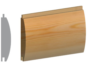 Premium Log Lap T&G Cladding 125x25mm (119x19.5)
