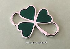 Shamrock Clasp Sterling Silver 925 Clover Made in Usa use w Convertible bracelet