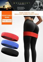 Resistance Bands Loop Stretch Fabric Sport Fitness Gym Yoga Rehab - 3 Sizes UK