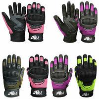 Ladies Full Finger Motorbike Mountain Bike Knuckle Protection Racing Gloves 9001