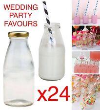 24x 250 ml MINI Vetro Bottiglie di Latte Vintage Party Pack ricevimento di nozze favori