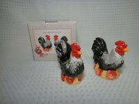 Ceramic Roosters Salt & Pepper Shakers Farm Country Decor From Cracker Barrel