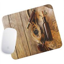 UK Seller Anti-Slip Gaming Mouse Pad Mat PC Laptop Vintage Brown Map Compass