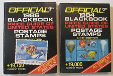 1984 & 1986 Official Blackbook Price Guides of United States Postage Stamps
