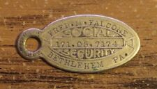 Vintage FALCONE Bethlehem Pa Social Security Card Keychain Tag ONLY ONE ON EBAY