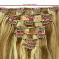 """Straight 28""""7pcs 120g Full Head Clip In On 100% Remy Real Human Hair Extensions"""
