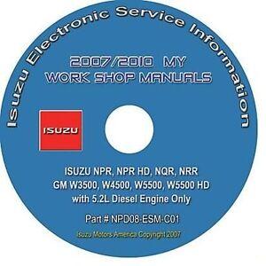 2007-2010 Isuzu NPR HD NQR NRR GMC W3500-W5500 Truck 5.2L Diesel Repair Manual