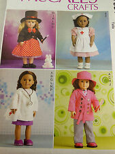 """18"""" Doll Clothes Nurse Doctor Magician hat shoes McCall's 7031 American Made NEW"""