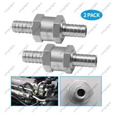 2 Pcs 10mm 3/8'' Aluminium One Way Non-return Petrol Diesel Oil Check Valve