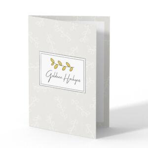 Goldene Hochzeit Einladungskarten Goldhochzeit 50 Jahre Einladung - Zweig