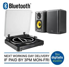 Audio-Technica Bluetooth AT-LP60BT USB Turntable + Edifier R1010 Active Speakers