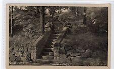 THE WISHING GATE, CRAGG WOOD STEPS, RAWDON: Yorkshire postcard (C11260)
