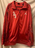 Vintage Air Jordan Tracksuit Jacket 23, Red/White/Black Men/Big/Tall Size 4XL